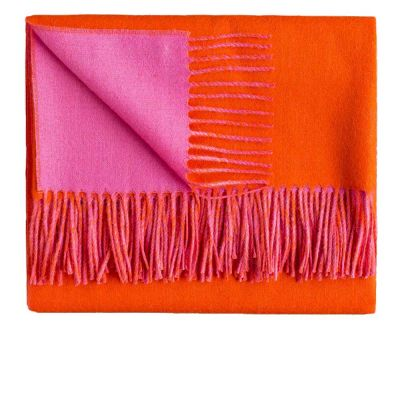 Reversible Pink Firecracker Throw