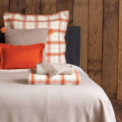 Aberdeen Ivory/Orange Euro Pillow