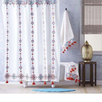Aloka Coral Shower Curtain