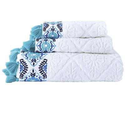 Aloka Teal Towels