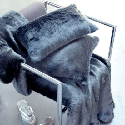 Anthracite Grey Faux Fur Collection