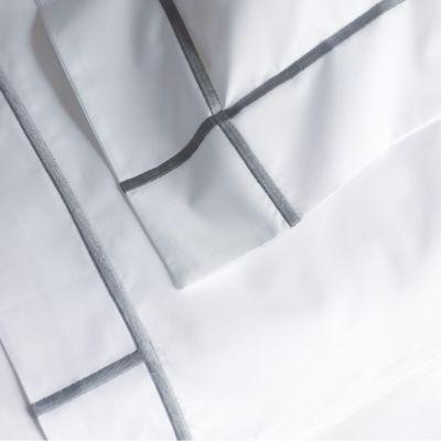Platine. Athena Flat Sheet & Sham Detail