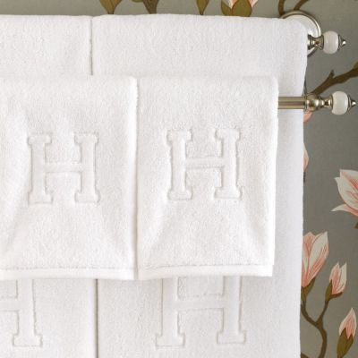 "Auberge ""H"" Bath & Hand Towels"