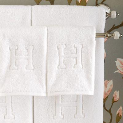 """Auberge """"H"""" Bath & Hand Towels"""