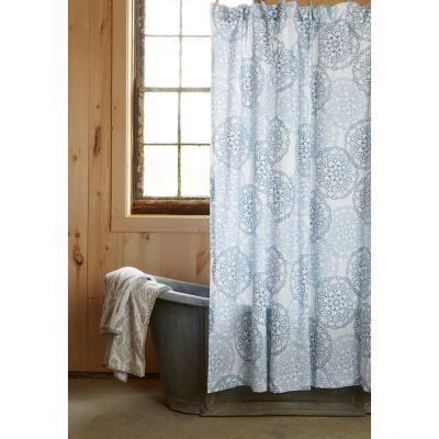 Bay Lapis Shower Curtain by John Robshaw