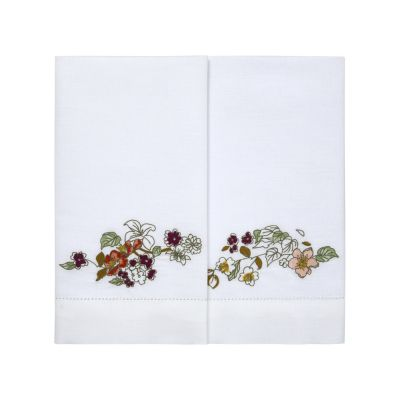 Blossom Fingertip Towels by Yves Delorme