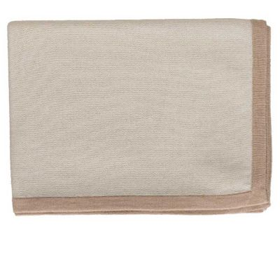 Border Ivory/Beige Throw by Alicia Adams