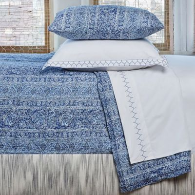 Calana Quilt & Shams shown with Stitched Sheeting