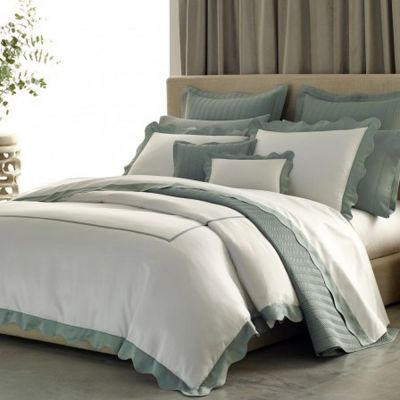 Carolina Collection shown with Nitto Celadon Coverlet & Talita Celadon Pillowcases/