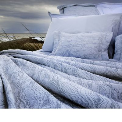 Perle Silver Coverlets & Shams