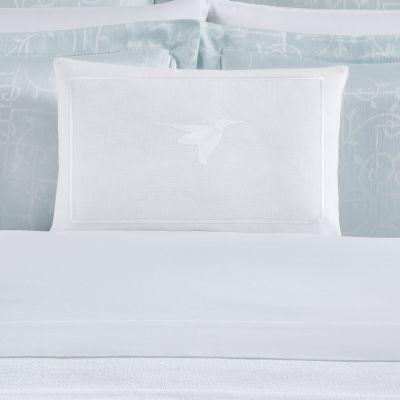 Colibri Decorative Pillow in White/White