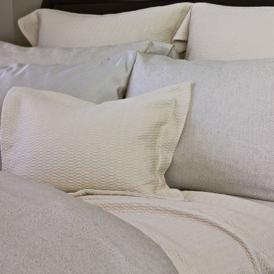 Corfu Coverlet & Shams. Cream