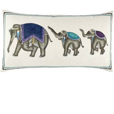 Elephant Family Decorative Pillow by John Robshaw