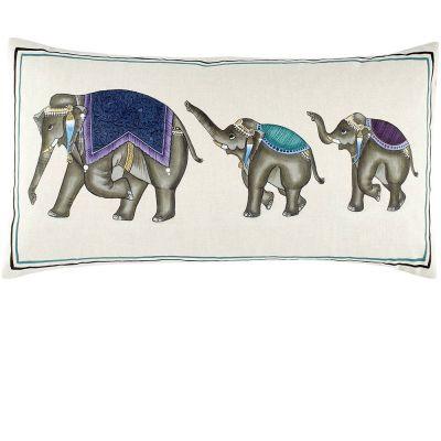 Elephant Family Decorative Pillow by John Robshaw