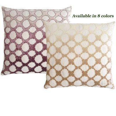 Fretwork Appliqued Decorative Pillows