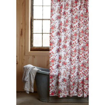 Ginger Coral Shower Curtain