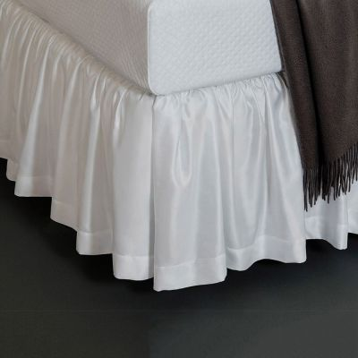 Giotto Gathered Bed Skirt. White