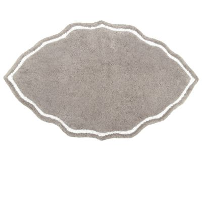 Gray Tufted Cotton Bath Mat