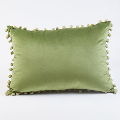 Ball Trim Decorative Pillow by Ann Gish