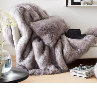 Faux Fur Throws by Evelyne Prelonge