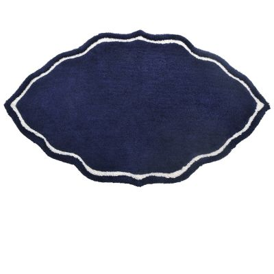Indigo Tufted Cotton Bath Mat