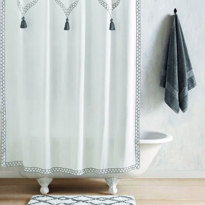 """Iswar Charcoal Shower Curtain (72""""x72"""")"""