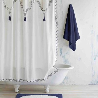 "Iswar Indigo Shower Curtain (72""x72"")"