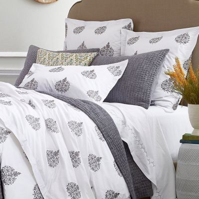 Jatu Gray Duvet Cover & Shams