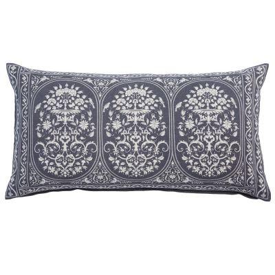 """Jinna Gray Bolster Pillow (17x32"""")"""