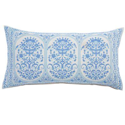 "Jinna Lapis Bolster Pillow (17x32"")"