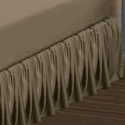 Legna Classic Gathered Bed Skirt - Flax