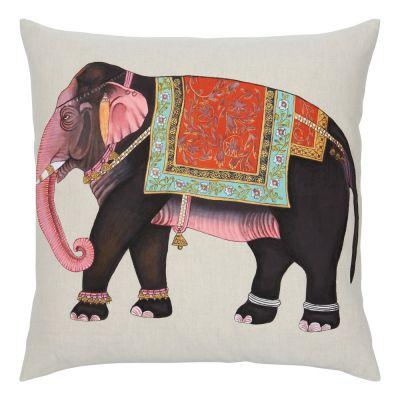 Moody Elephant Decorative Pillow by John Robshaw