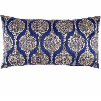 Mudu Indigo Bolster Decorative Pillow