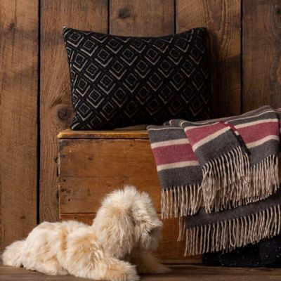 Mystic Decorative Pillow in Light Taupe/ Black
