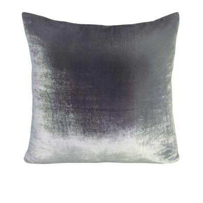 Ombre Velvet Pillow. Silver Gray