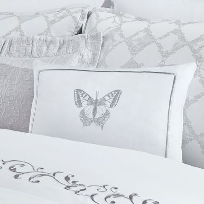 White/Silver Decorative Pillow