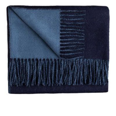 Reversible English Manor / Navy Throw