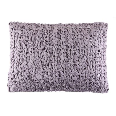 Lilac. Ribbon Knit Pillow