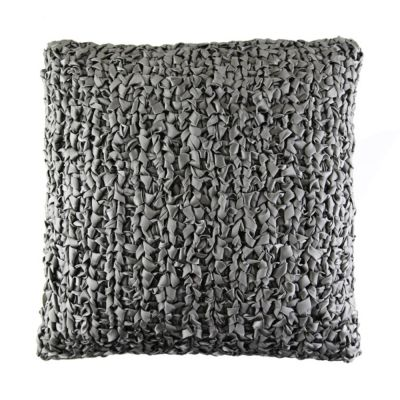 Ribbon Knit Dark Grey Decorative Pillow