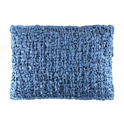 Blue. Ribbon Knit Pillow