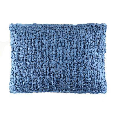Blue. Ribbon Knit Pillow