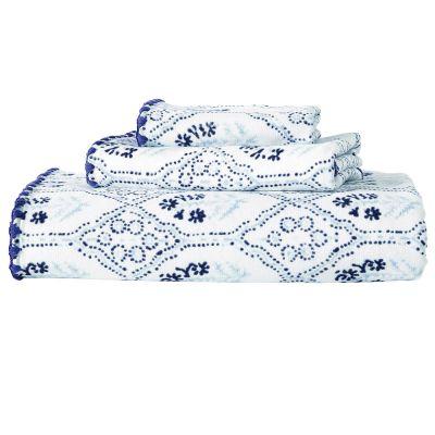 Sahasa Indigo Towels by John Robshaw