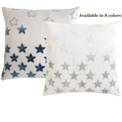 Stars Appliquéd Decorative Pillows
