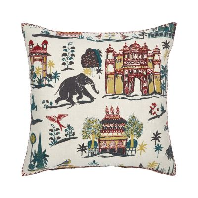 Tato Teak Decorative Pillow by John Robshaw