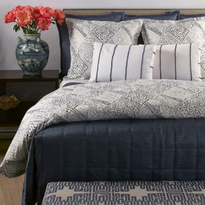 Blue Texture Coverlet Set