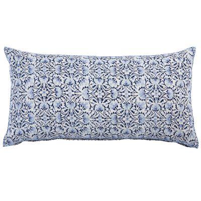 "Torana Indigo Bolster Pillow (17x32"")"