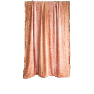 Woodgrain Mango Velvet Throw