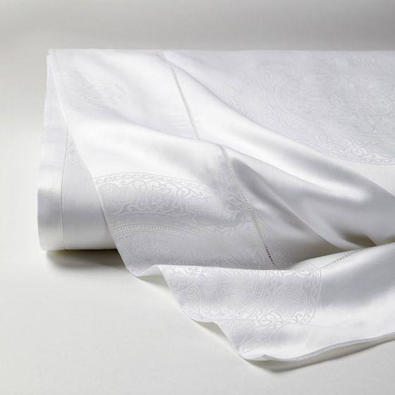 Sferra Giza 45 Medallion by Sferra Standard Pillowcase 22x33 White